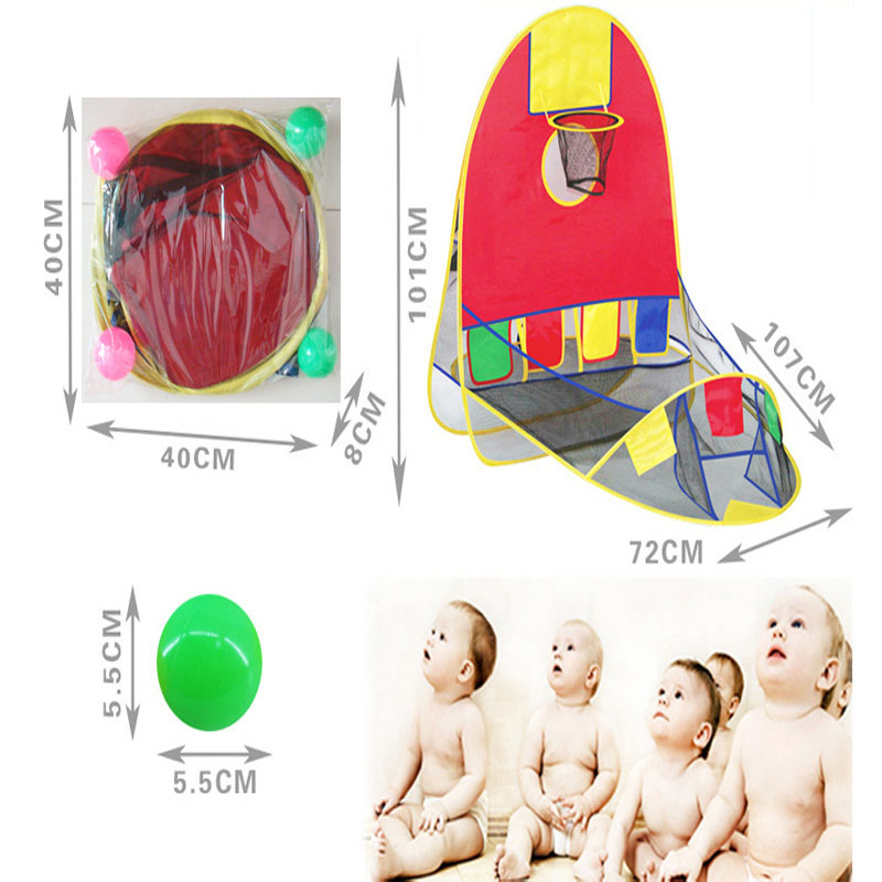 Ball Tent Play House Basketball Basket Tent Ocean Ball Pool Outdoor Indoors Sport Kids Toys Beach Lawn Play Tent