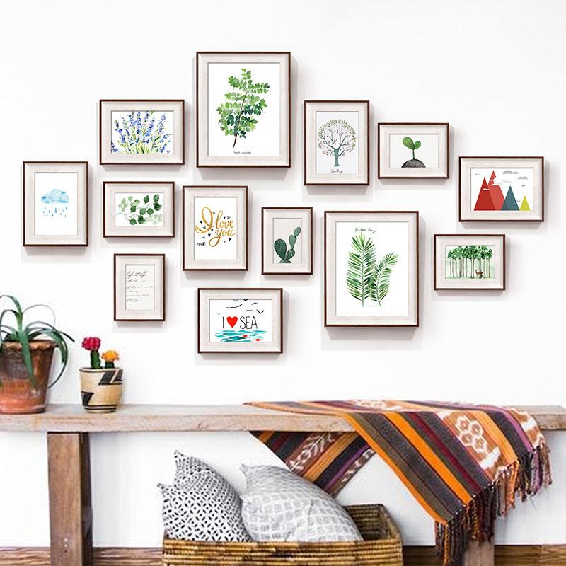 Plant Pattern Photo Frames Set For Home Decor 13pcs/set ...
