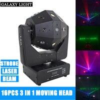 3in1 Beam /Laser/Strobe Light 16x3w Moving Head Light Football DMX512 Laser Light DJ /Bar /Party /Show /Stage Light