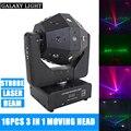 3in1 Strahl/Laser/Strobe Licht 16x3w Moving Head Licht Fußball DMX512 Laser Licht DJ/bar/Party /Show/Bühne Licht