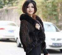 New arrival winter 2015 fashion branded Genuine mink fur Cape vest for women Plus size natural mink fur vest