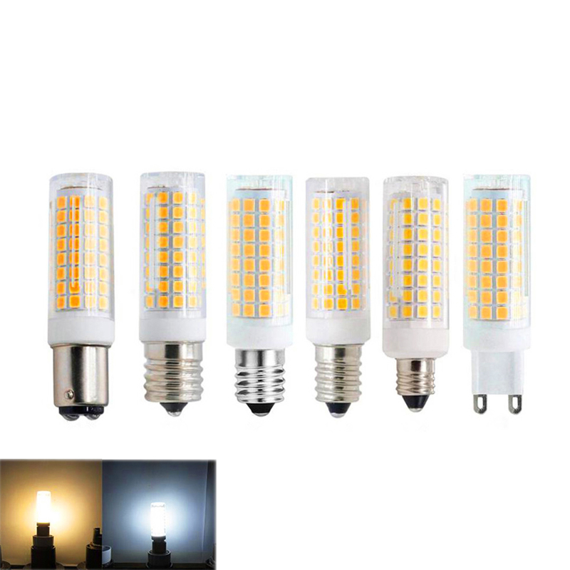 Daylight White 6000K Dimmable Halogen Bulbs Equivalent 100W or 120W AC 100V-265V Voltage Input G9 led Light Bulbs 8.5W 1105lm