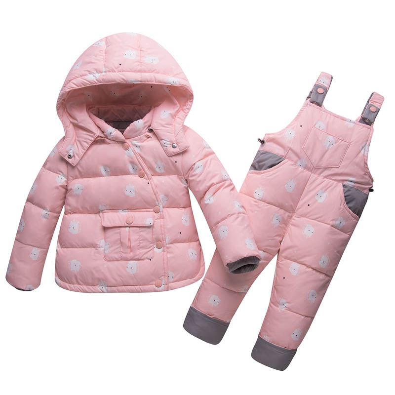 New Children Outerwear Jumpsuit Kids Thicken Warm Snowsuits Overall Winter Jackets for Boys Warm Coat Kids Clothes Ski Suit E157