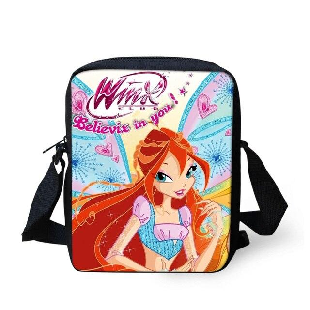 30f746eddcdf FORUDESIGNS Cute Cartoon Winx Club Girls School Bags Small Children Book Bag  for Kindergarten Women Shoulder Bag Kids Mochila