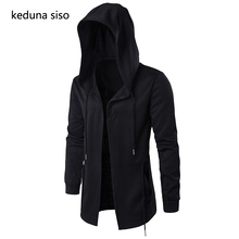 Sudaderas con capucha para hombre cárdigan negro con capucha hombre Mantle Assassin  Creed Cloak Hoodies Outerwear 9cfd511ad384
