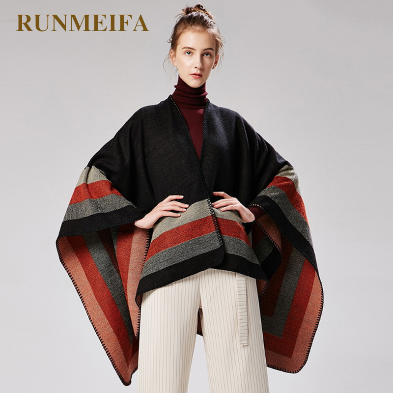 New Design 50%ACRYLIC And 50%POLYESTER Foulard Femme Autumn / Winter Warm Fashion Scarf Shawl Poncho 130*150CM Tippet Shawl