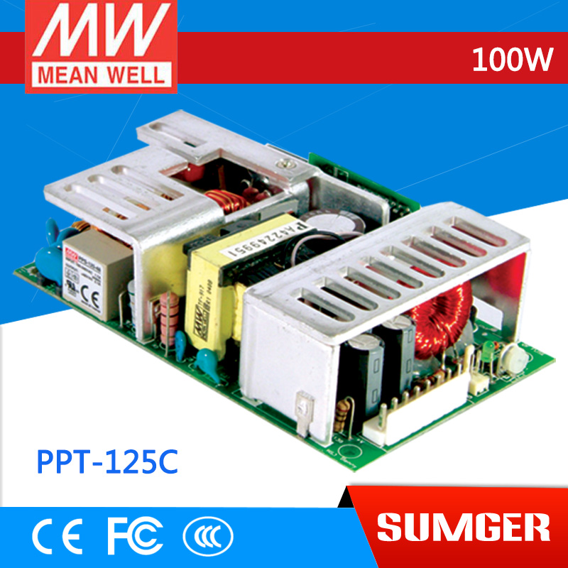1MEAN WELL original PPT-125C meanwell PPT-125 100W Triple Output with PFC Function импульсный блок питания mean well 100 100w 12v drc 100a