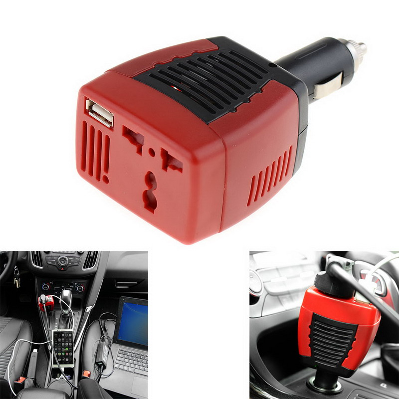 New DC TO AC 75W Main Car Power Inverter Converter Charger For Mobile Laptop Hot Selling VEK01 T10