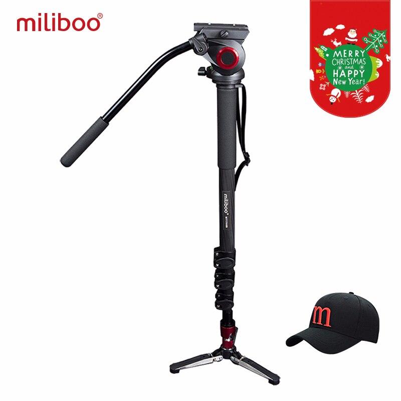 Miliboo MTT705B Портативный штатив из углеродного волокна и монопод для профессионалов камера видеокамера/видео/стойка для цифрового однообъекти...