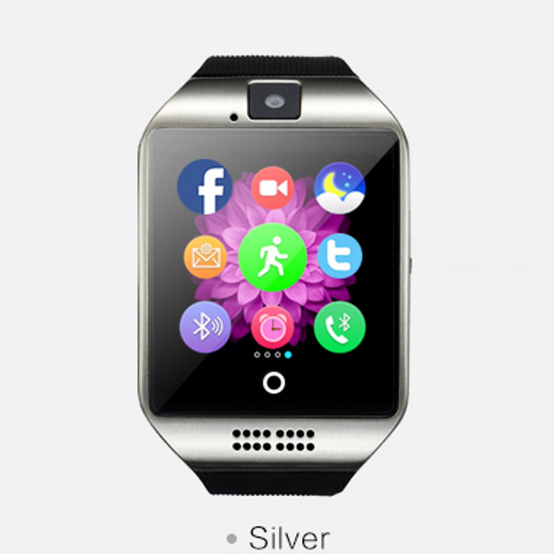 New arrival Q18 smart electronics wearable device bluetooth smart watch with 1 3MP font b camera