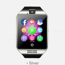 Nueva llegada Q18 electrónica inteligente dispositivo portátil bluetooth elegante reloj con 1.3MP cámara 500 mAH smartwatch para android