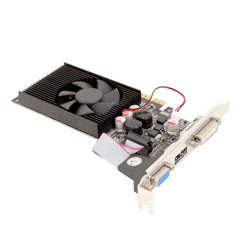 ل NVIDIA GeForce GT610 1 جيجابايت GDDR3 بطاقات الرسومات GPU GT 610 1 جرام D3 64Bit DVI VGA PCI Express 2.0X16 وحدة معالجة الرسومات بطاقة الفيديو