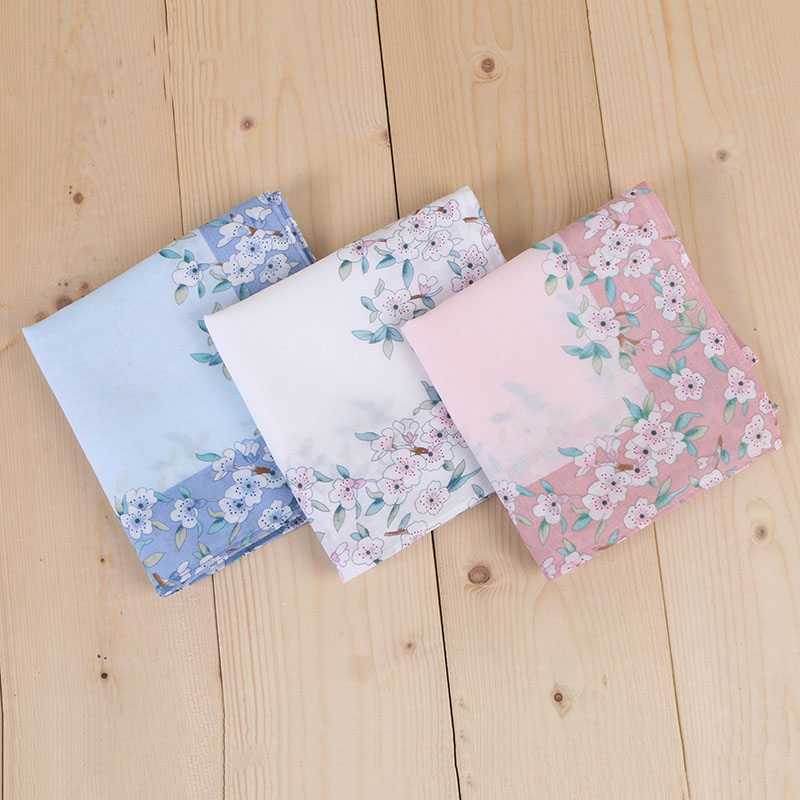 12pcs 45*45cm New 100% Cotton Handkerchiefs Business Women Handkerchief