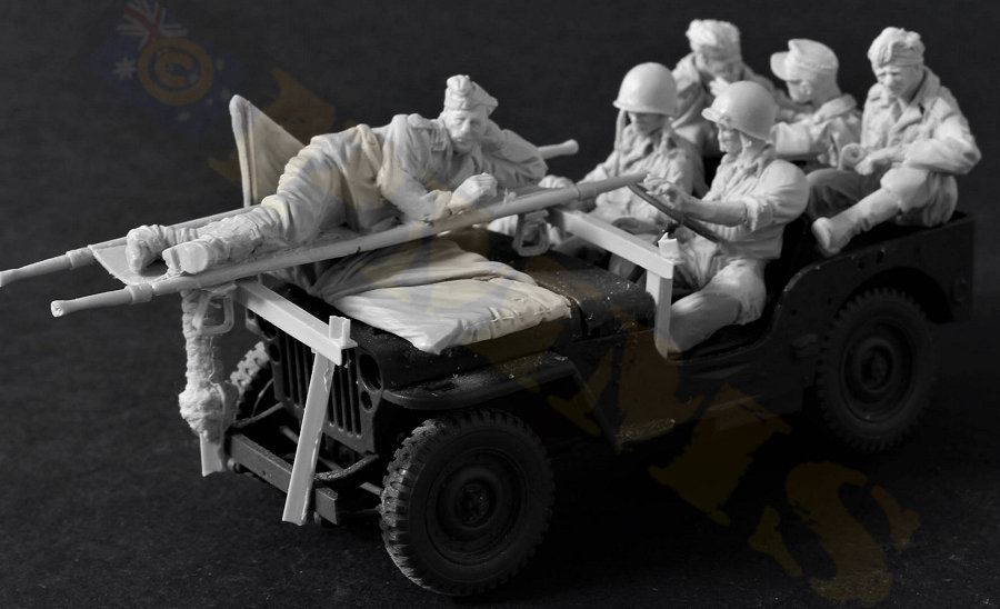 1 35 Resin Figure Model Kit Unassambled Unpainted 466 6 figures accessories