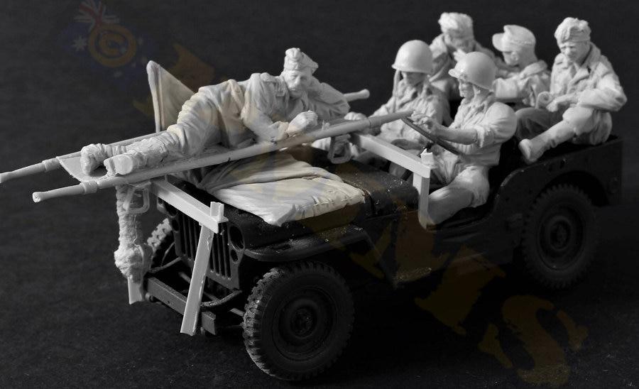 1:35 Resin Figure Model Kit Unassambled  Unpainted //466 (6 figures & accessories)-in Model Building Kits from Toys & Hobbies    1