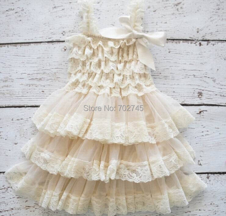 Wholesale Girl Dress Lace Chilffon Layered Slip Dress Girl TUTU Dress 0 8Y 0321 Not Have