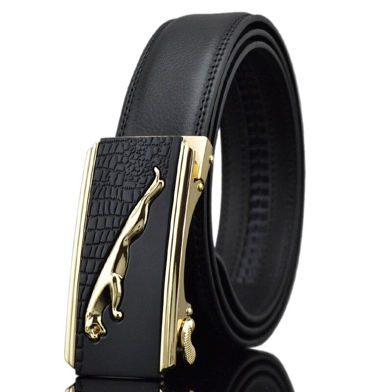 Genuine Leather Belts for Men Designer Luxury Automatic Buckle Straps 110-150cm Big Size Cintos Ceinture Business Male Belt