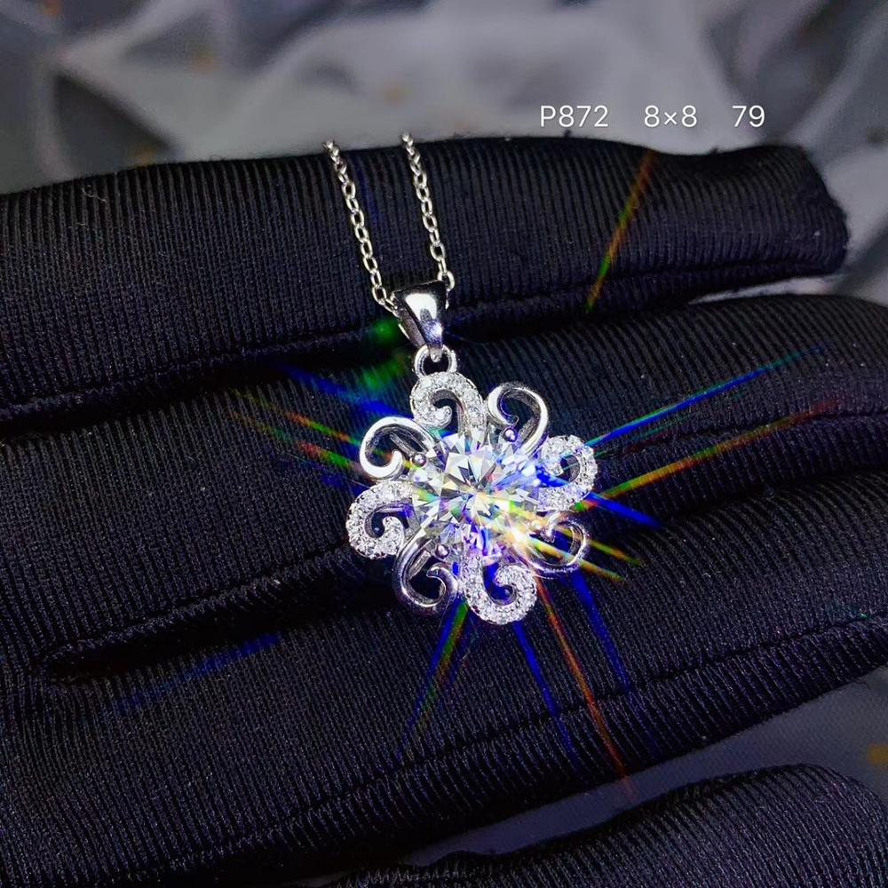 2ct  Moissanite   Super Popular Styles, Necklaces, Ladies'party Play. 925 Pure Silver