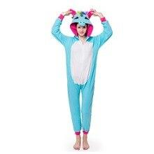 Флисовые пижамы для взрослых унисекс кигуруми костюм для косплея животных золотой рог синий Tianma комбинезон Единорог одежда для сна