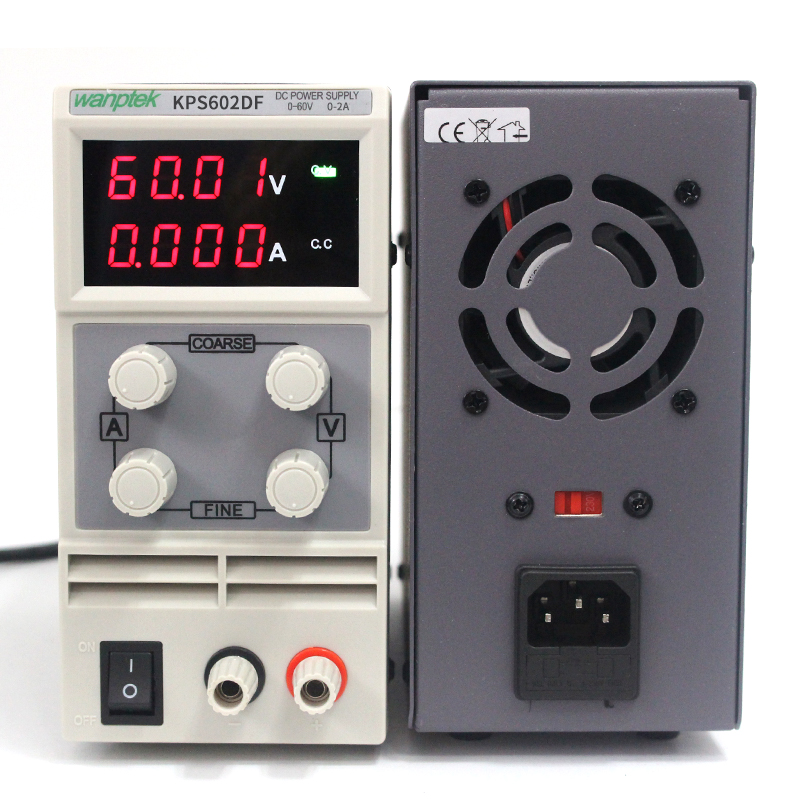 Wanptek KPS602DF 0-60V/0-2A 110V-220V 0.01V/0.001A Adjustable Digital DC power supply mA display,Mini switching power supply cps 6011 60v 11a digital adjustable dc power supply laboratory power supply cps6011