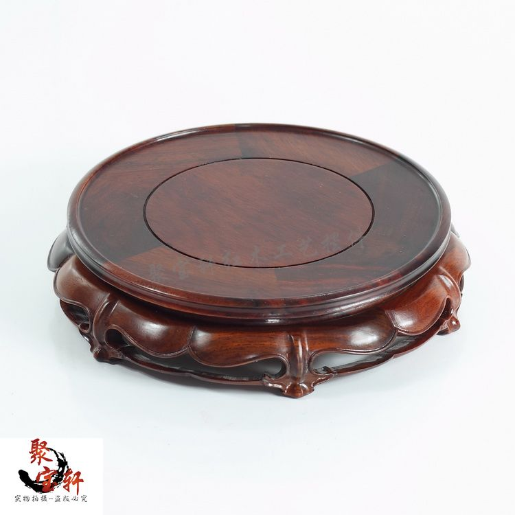 Red rosewood carving handicraft annatto circular base of real wood of Buddha stone are recommended vase furnishing articles lacywear dg 48 snn