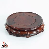 Red Rosewood Carving Handicraft Annatto Circular Base Of Real Wood Of Buddha Stone Are Recommended Vase
