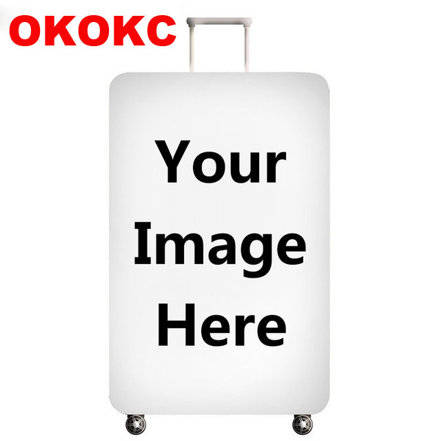 Customize Your Image / Name / Logo Luggage Cover Suitcase Protective Covers Elastic Anti-dust Case Cover For 18-32Inch Box Case