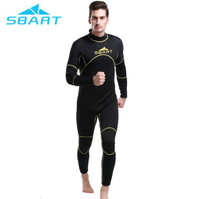 SBART 2017 Erkekler 3mm neopren wetsuit kış tüplü dalış takım ıslak elbise triatlon takım erkek tek parça profesyonel mayo