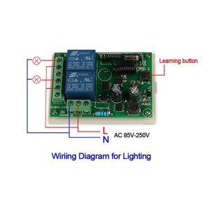 Image 4 - QIACHIP 433MHz 2CH אלחוטי שלט רחוק מתג AC 110V 220V ממסר מקלט עבור עבור שער חשמלי אור מנורת רכב מוסך דלת