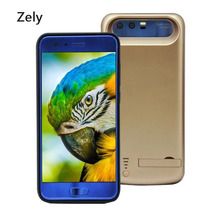 New 6500mAh Portable External Power Bank Cover Battery Charger Case For Huawei honor 9 soft TPU Protective shell with stand