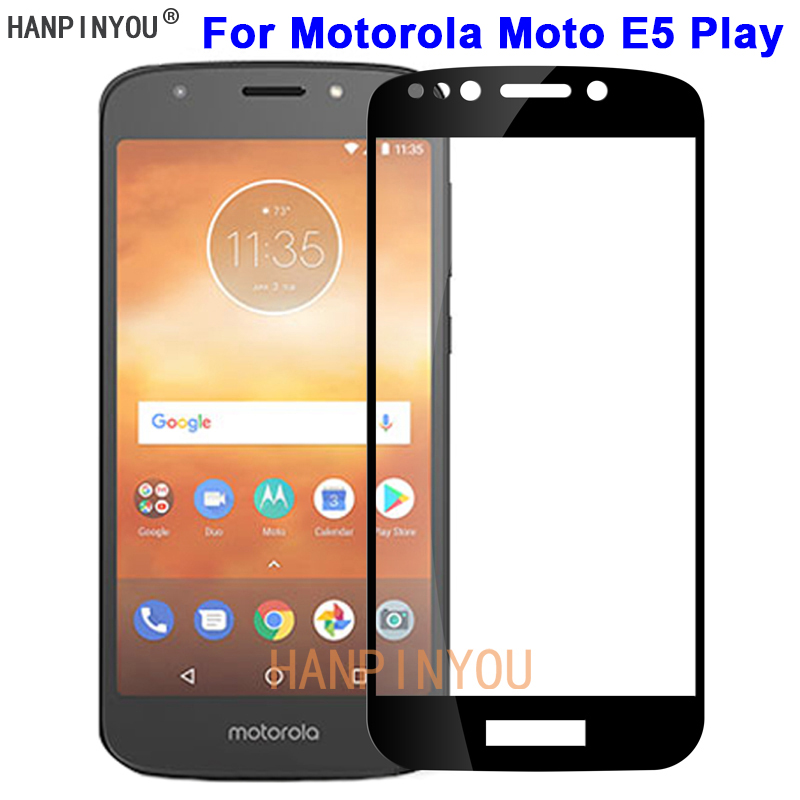 """For Motorola Moto E5 Play 5.2"""" New 9H Hardness 2.5D Full Cover Toughened Tempered Glass Film Screen Protector Protect Guard"""