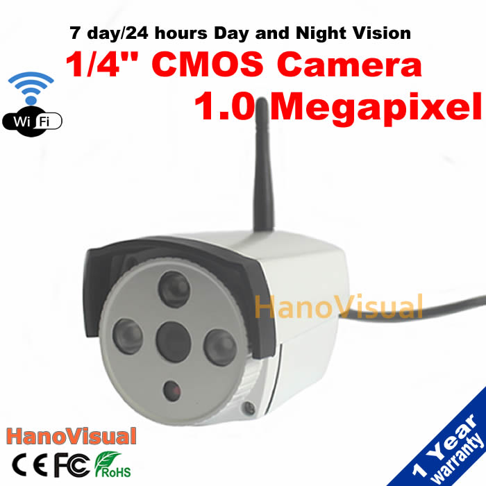ФОТО HD 1.0MP Wifi Wireless IP Camera 720P Outdoor With IRCUT Waterproof Night Vision ONVIF P2P Remote View Support Motion Detection