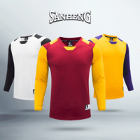 SANHENG Men's Basketball Jersey Quick Dry Long Sleeve Shirts Breathable Sports Clothes Custom Basketball Jerseys S217601