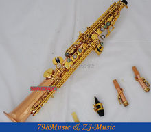 Phosphor Bronze Copper Soprano Saxophone Bb key to High F key and G Key-2 Neckes