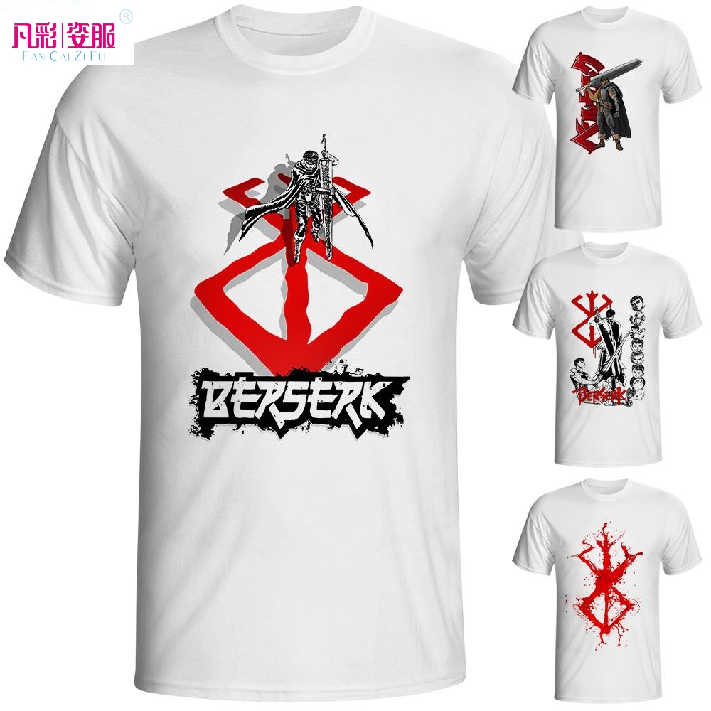 Design t shirt brand - Berserk T Shirt Japanese Anime Cartoon Pop Design T Shirt Cool Novelty Funny Tshirt Style