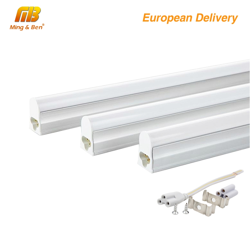 [MingBen] 4pcs/lot LED T5 Tube LED Bulbs Tube 12W 3ft=90cm 9W 2ft=60cm 220V 230V 50HZ Cold White Warm White LED Fluorescent Tube brad