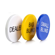 3 pcs/set Poker Chips High Quality Gamling Banker Pocker Game 5cm*5cm Yellow/Blue/White Big Blind Small Dealer Set