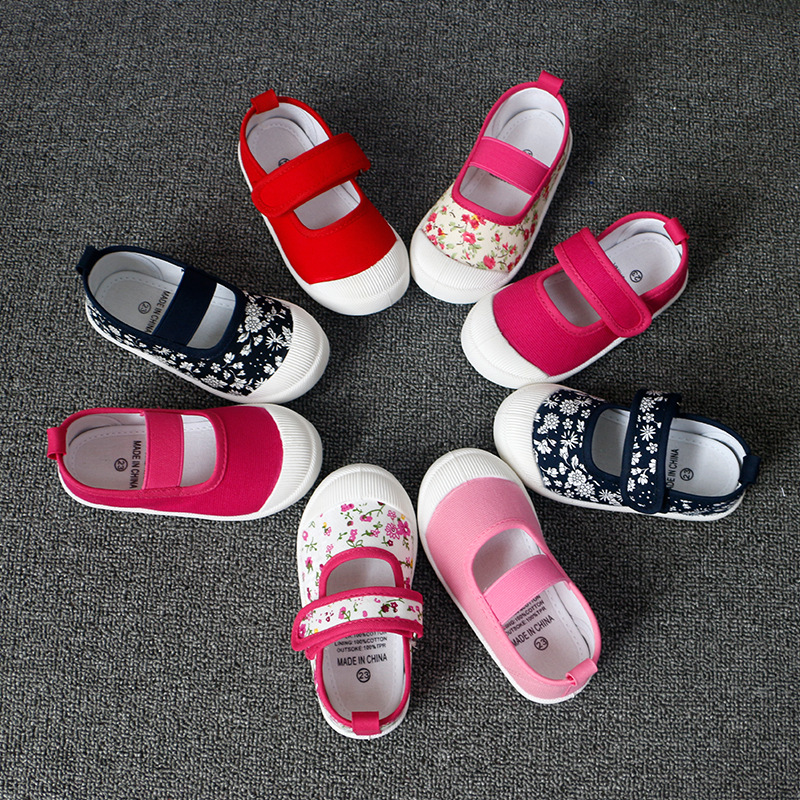 ARISONBELAE Buty dziecięce Girl Floral gumką Casual Sport Kids - Obuwie dziecięce - Zdjęcie 3
