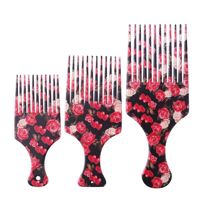 Расческа для волос с широкими зубцами для мужчин и женщин, Массажная щетка для парикмахерских, инструмент для укладки, 1 шт.