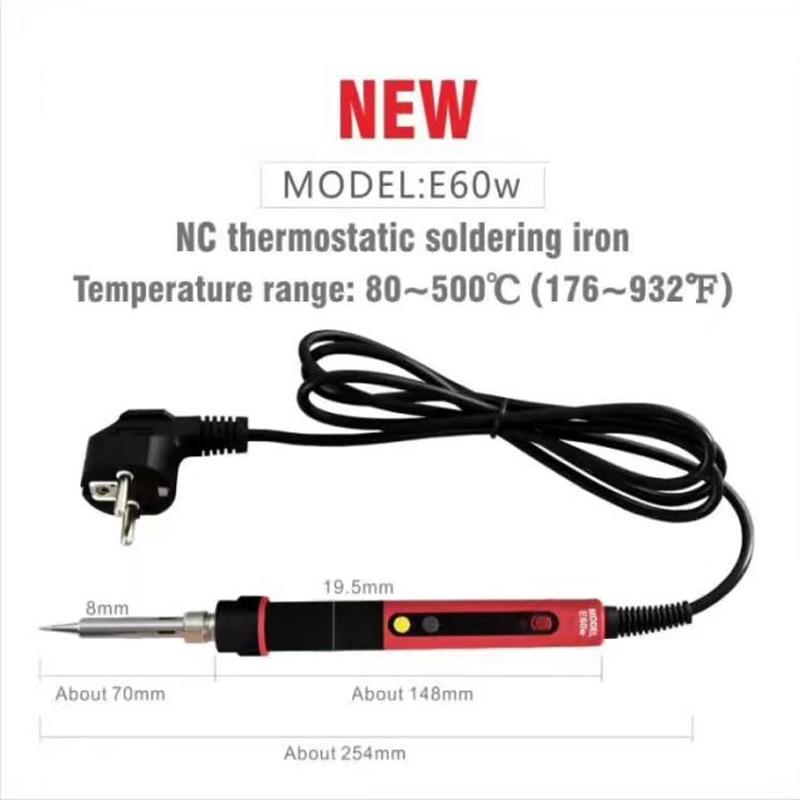 CXG E60W Soldador eléctrico EU Digital LCD Ajustable NC termostato - Equipos de soldadura - foto 2