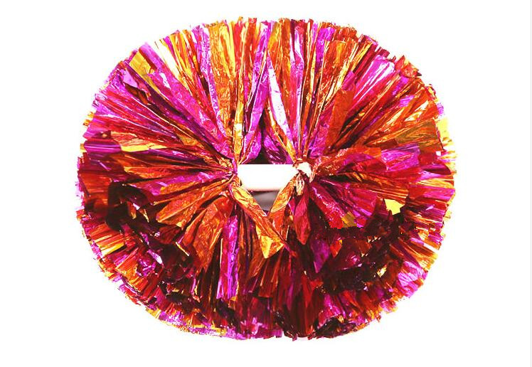 Metallist punane segu cheerleading pom poms Cheerleader pompon - Meeskonnasport - Foto 3