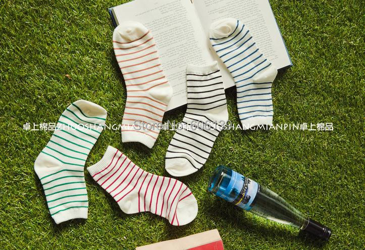 A691 campus pure and fresh striola socks woman autumn cotton socks 10pairs/lot free shipping girl socks MIX