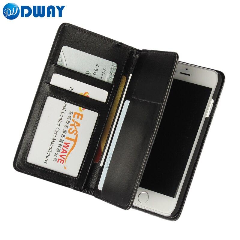 PU Leather Wallet Purse Pouch Book Flip Cover Case for iPhone 7 / 7 Plus / 6 6S / 6 Plus / 6S Plus / 5 5S SE Phone Case + Stylus