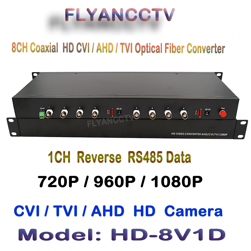 1Pair 2 Pieces/Lot 2MP HD CVI AHD TVI 8 Ch Video Optical Converter with 1ch RS485 Data Fiber optic Media Transmitter & Receiver 4 channel video optical converter fiber optic video optical transmitter receiver 4ch rs485 data ahd cvi tvi cvbs coaxial fiber