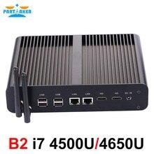 ويندوز البسيطة pc i7 4650u 4500u هيكلى HTPC إنتل Nuc بدون مروحة الكمبيوتر هسول الرسومات HD 5000 300 M Wifi