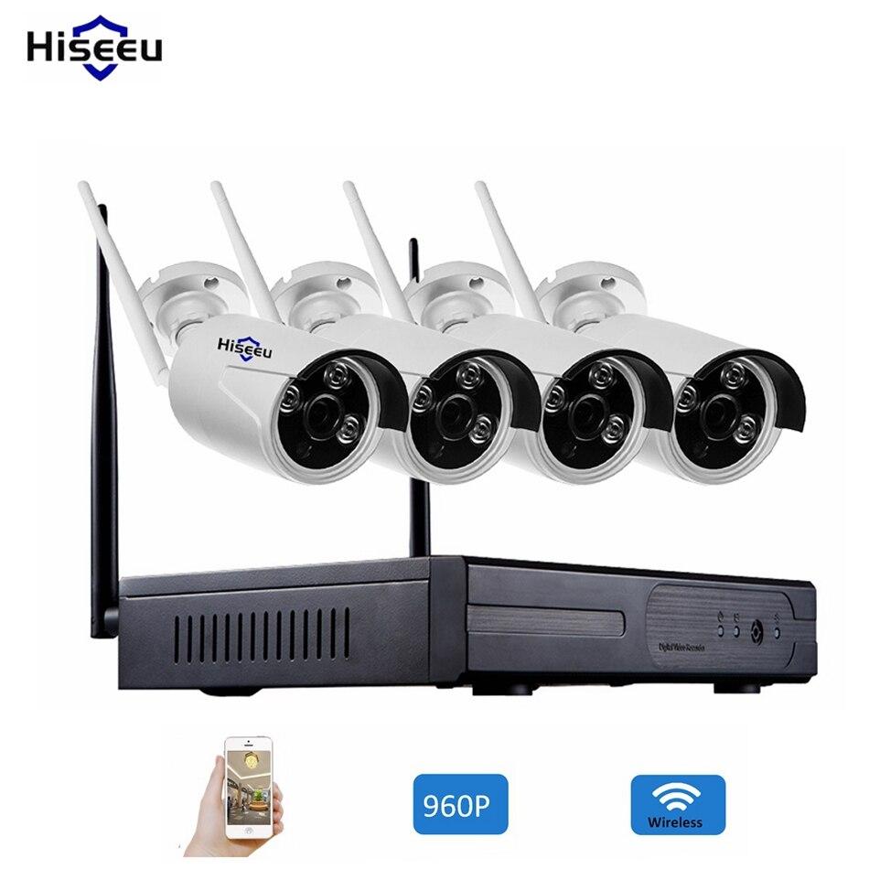 960 P 4CH Sans Fil CCTV Système WiFi NVR Caméra IP IR-CUT Bullet CCTV Système de Sécurité À Domicile Kits De Surveillance
