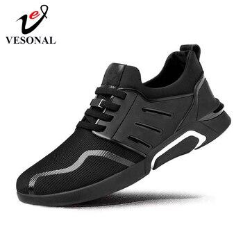VESONAL Brand 2019 Comfortable Breathable Mesh Men Shoes Casual Lightweight Walking Male Sneakers Tenis Feminino Footwear S008