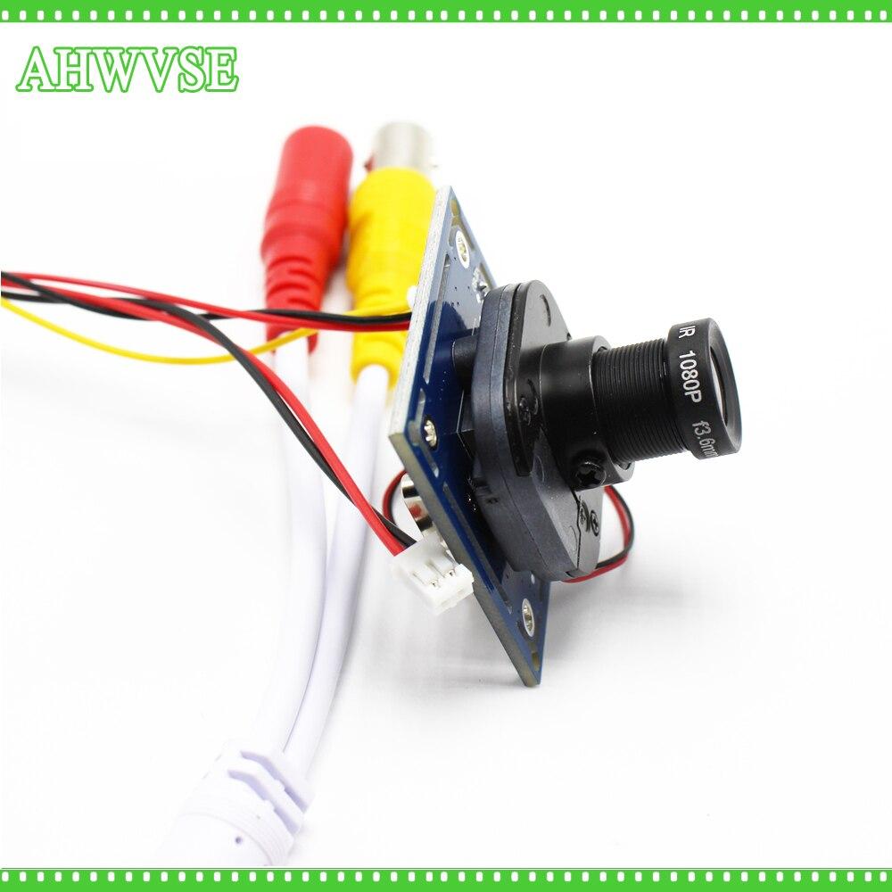 AHWVSE HD 1200TVL CCTV Analogique Caméra conseil module avec IR-CUT et BNC câble 2.8mm objectif