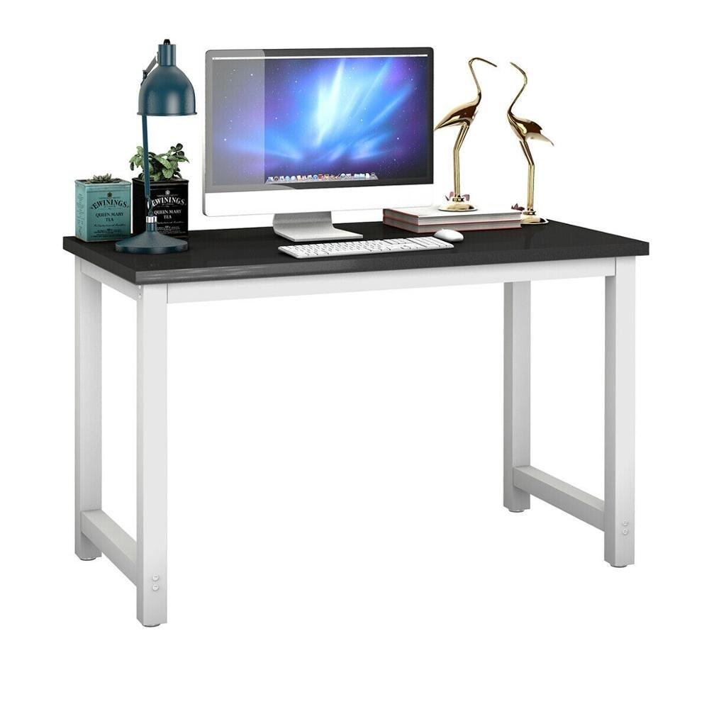 Mobilya'ten Dizüstü Bilg. Masaları'de Giantex ahşap bilgisayar masası PC dizüstü bilgisayar masası çalışma İstasyonu ev ofis siyah yeni HW53853BK title=