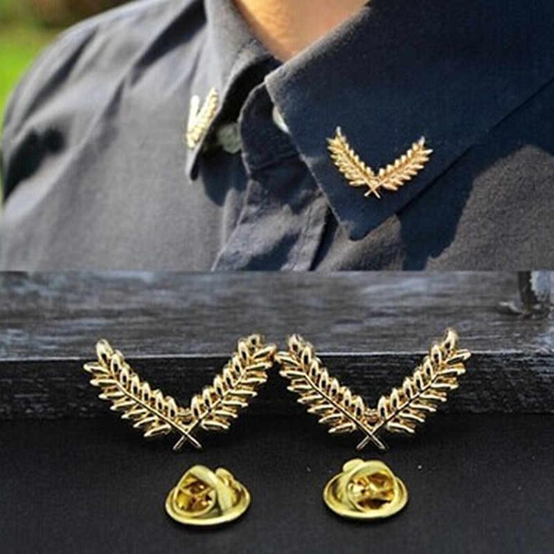 Baru Fashion Perhiasan Daun Pohon Bros Kerah Klip Hadiah untuk Wanita Pria Pecinta Grosir Kain Aksesoris